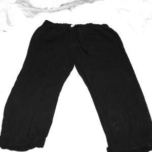 Old Navy black linen crop pants. Size medium